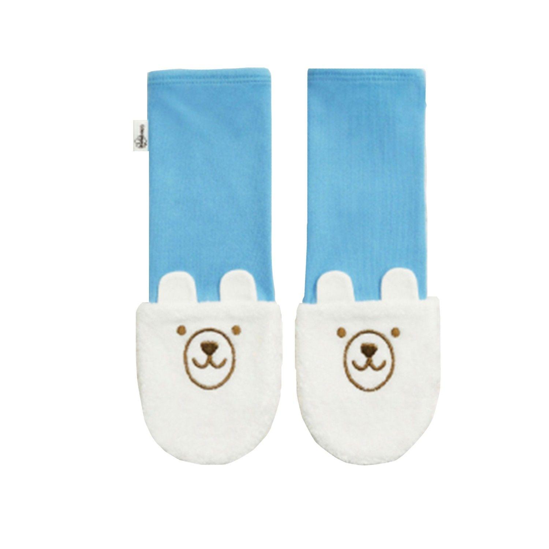 Edenswear 伊登詩 - 鋅健康嬰兒防抓臉造型袖套手襪-水藍 (FREE)