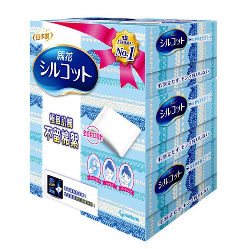 絲花 化妝棉(80+2片) x 3盒/組絲綢表層細緻肌觸,全面封口不留棉絮。棉絮不殘留 ,釋放水分留住美麗 獨家柔絲層觸感最細緻 INTAGE SRI數據提供,1997年1月–2014年3月,日本國內