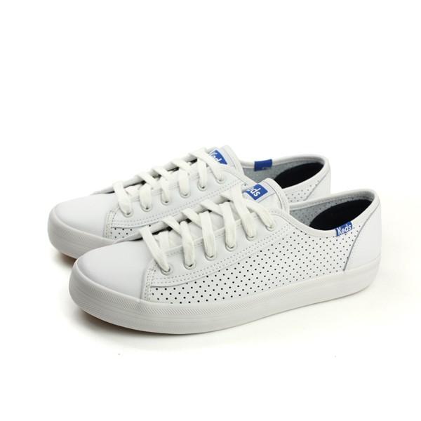 Keds KICKSTART PERF LEATHER 休閒鞋 皮革 白色 女鞋 9171W132118A no260