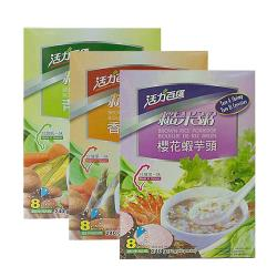 活力百匯 糙米粥3盒(香菇竹筍/櫻花蝦芋頭/青蔬什錦)