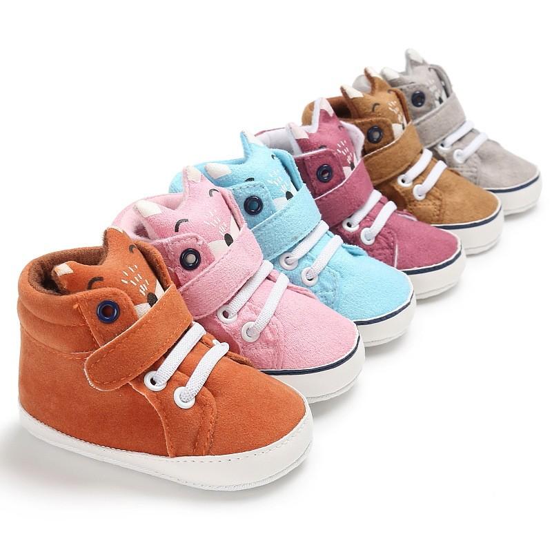 現貨 實拍A新款秋冬新款童鞋嬰幼童寶寶鞋 0-1歲男女寶寶卡通頭像軟底嬰兒學步鞋包頭 寶寶必備
