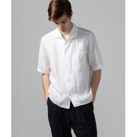 【40%OFF】 トゥモローランド ラミーバイオ カッタウェイカラー半袖シャツ メンズ 11ホワイト XS 【TOMORROWLAND】 【セール開催中】