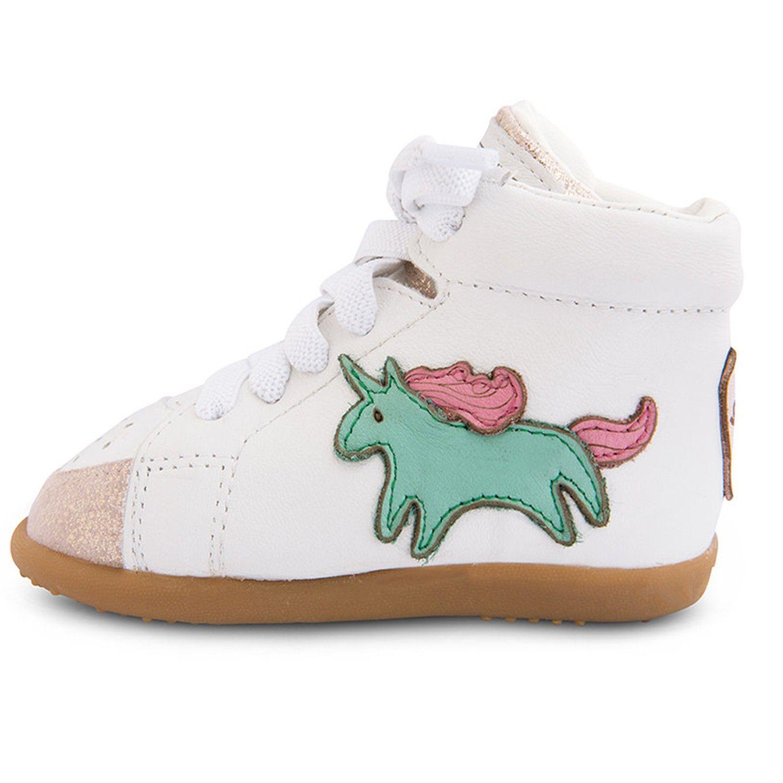 英國 shooshoos - 健康無毒真皮手工學步鞋/童鞋-童趣獨角獸
