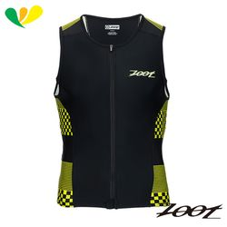 ZOOT 專業級全拉式肌能鐵人上衣(男)(格紋黃) Z1706020
