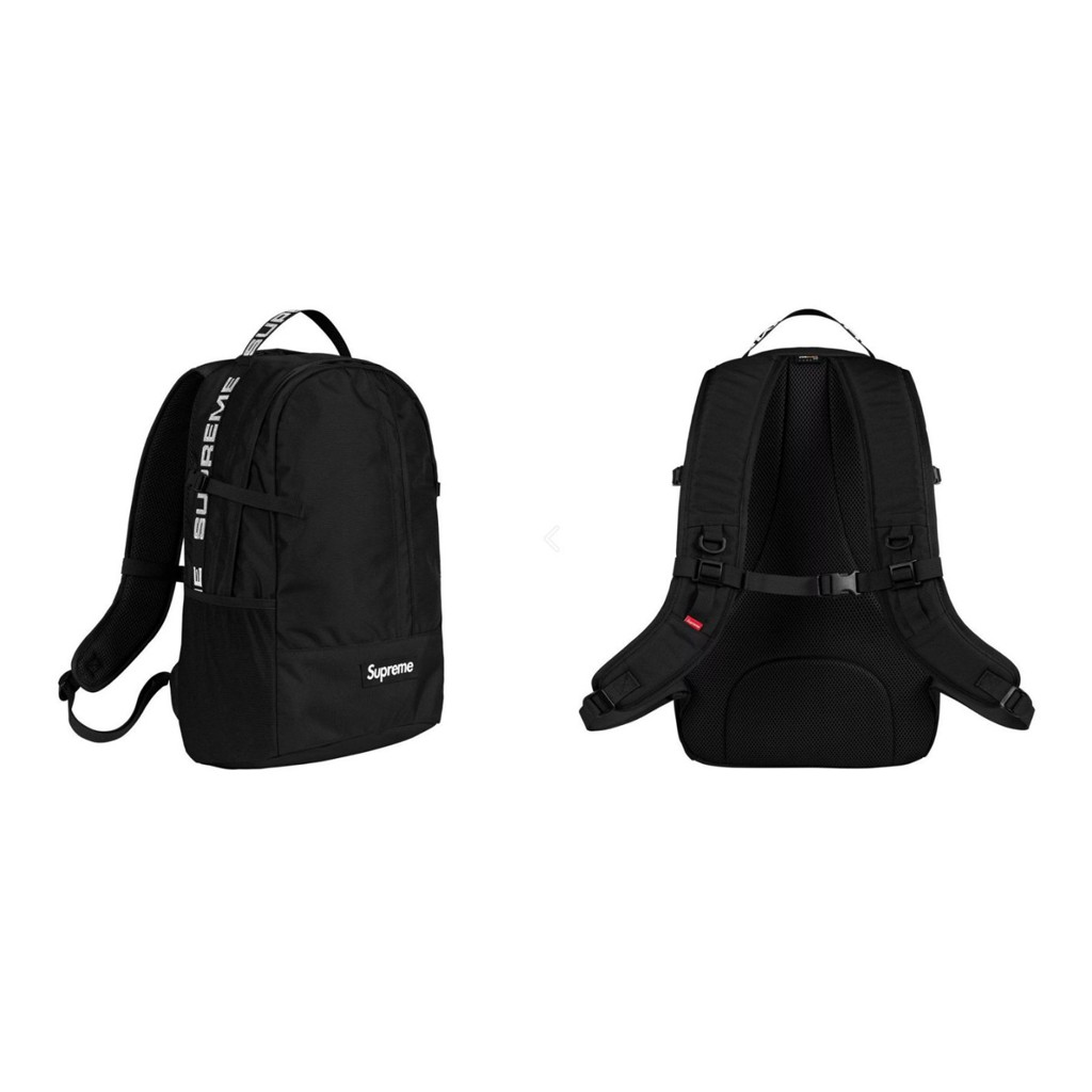 Supreme 18SS 44th Backpack 黑色 字母 登山 運動 後背包【高冠國際】
