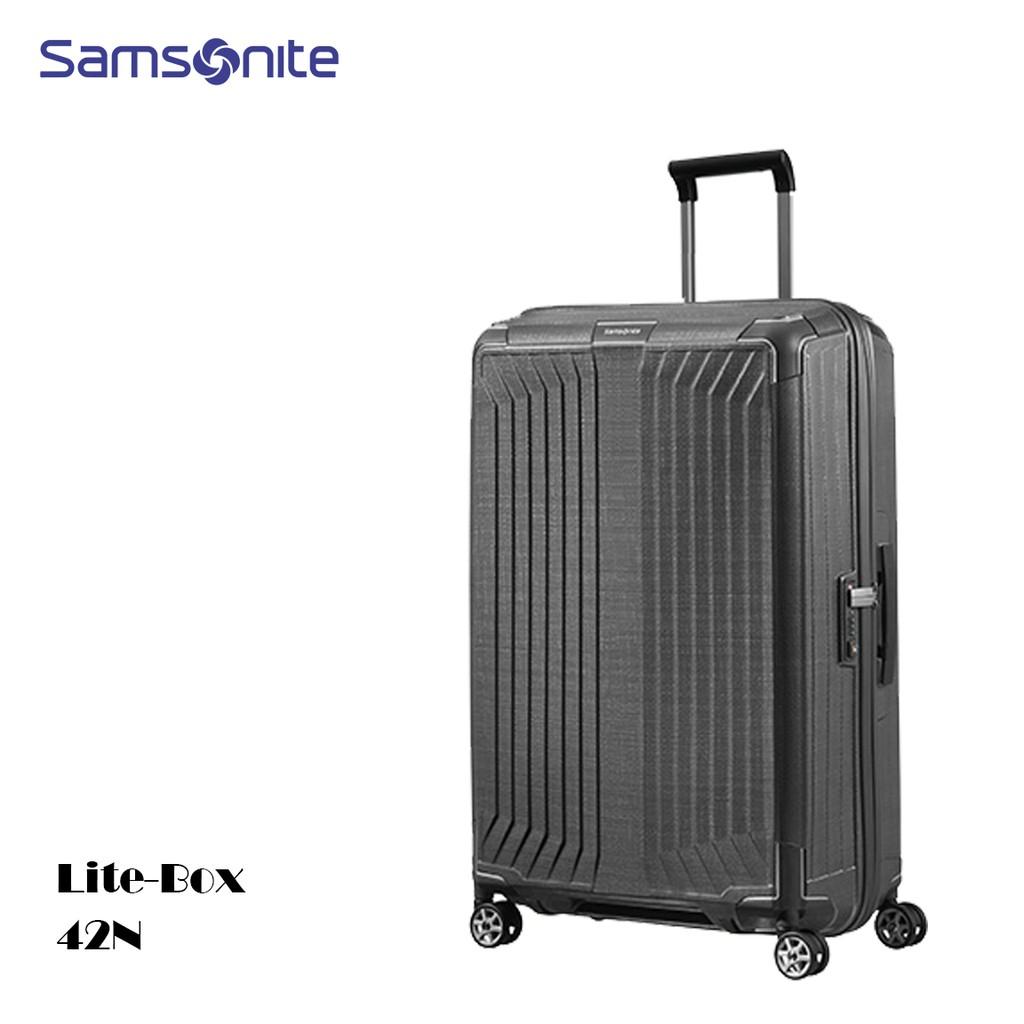 Samsonite 新秀麗【Lite-Box 42N】28吋行李箱 歐洲製 超輕3kg 堅韌Curv材質 附原廠保卡