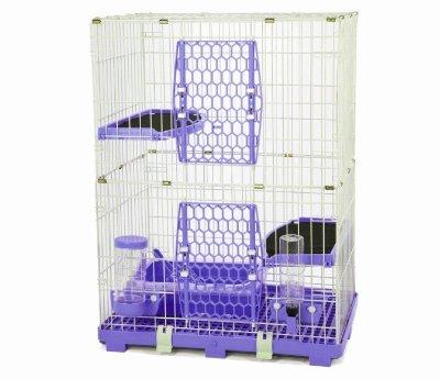 【優比寵物】ACEPET歐式精緻豪華(3層+2跳板)貓籠610-M2Y(附贈全配件)/寵物籠/抽取式底盤《台灣製造》