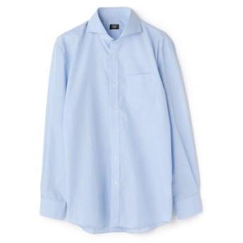 (Men's Bigi/メンズビギ)C/Tハケ目 ドレスシャツ【EASY CARE】【ホリゾンタル】/メンズ サックスブルー