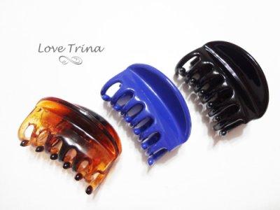 【Love Trina】韓國進口。正韓✈ 79024-0205。簡約弧型小抓夾。小鯊魚夾。髮飾 (4色)