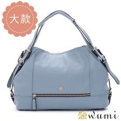 WuMi 艾莉卡率性拉鍊包L 微風藍