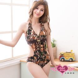 天使霓裳 野艷戀夏 一件式連身泳衣(咖啡M,L) SQ3047