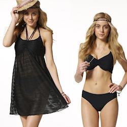 【SAIN SOU】大女三件式泳裝附泳帽A93516