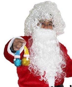 **shw飾品**萬聖節.聖誕節.派對表演.化妝舞會舞蹈用品爆炸頭.鬍鬚~老公長鬍鬚+假髮