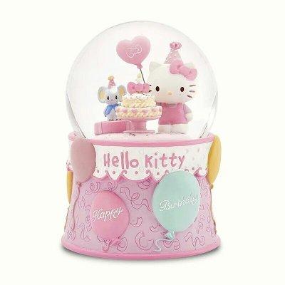 限時特價 JARLL讚爾hello kitty生日蛋糕音樂盒 音樂鈴 水晶球 雪球擺飾 生日禮物