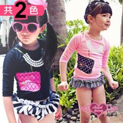 天使霓裳 兒童泳衣 小小名媛卡哇伊泳裝系列(共兩色M~XL) GA5112