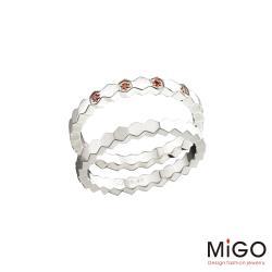 MiGO 米格鋼飾 依戀白鋼戒指