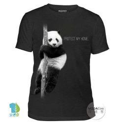 摩達客  美國The Mountain保育系列 熊貓的家中性短袖紀念T恤 柔軟舒適高級混紡