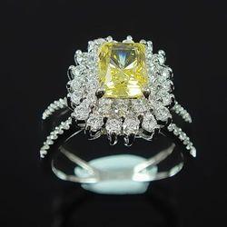 【Celosa珠寶】相識彩黃晶鑽戒指