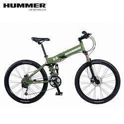 美國HUMMER 大悍馬HM2600 26吋27速四連桿碟煞折疊單車/大折-綠