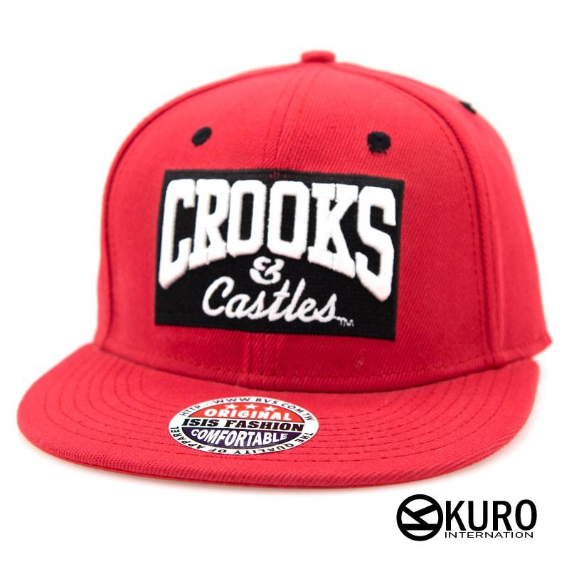 KURO-SHOP色CROOKS電繡潮流板帽棒球帽