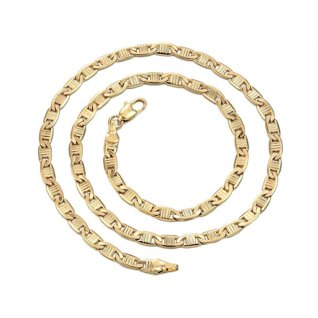 金幣元寶 寬0.4 長46公分 金項鍊 鍍18K金色 抗過敏 防退色 金項鏈 艾豆『D3111』