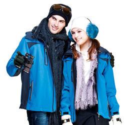 【SPAR】附帽子中性款四面彈性保暖外套(兩色任選)