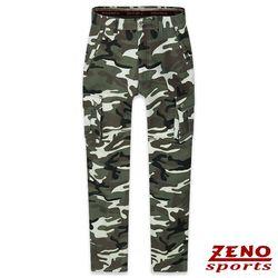 ZENO傑諾 保暖刷毛迷彩休閒褲‧棕綠30-42