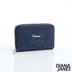 Diana Janes 牛皮 玫瑰花 零錢夾