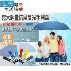 【海夫健康生活館 】超輕 1-4人可撐 抗強風 抗UV 手開傘