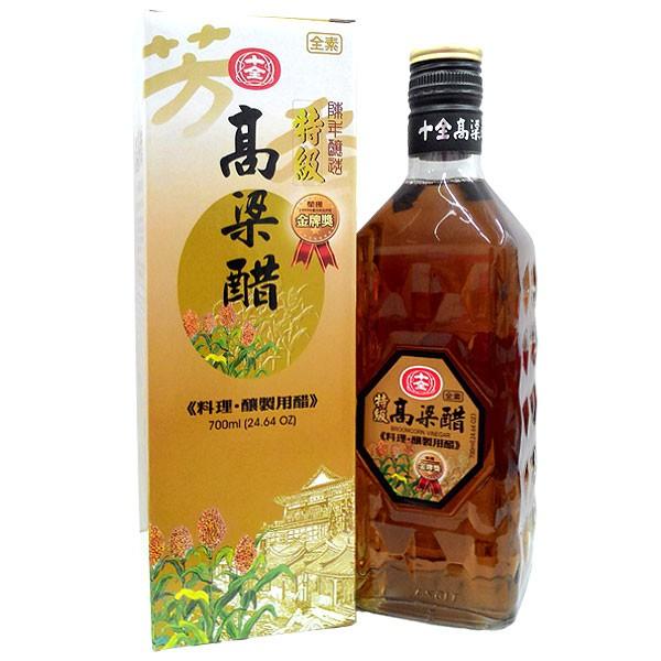 十全 金門高梁醋 700ml (6入)/箱【康鄰超市】