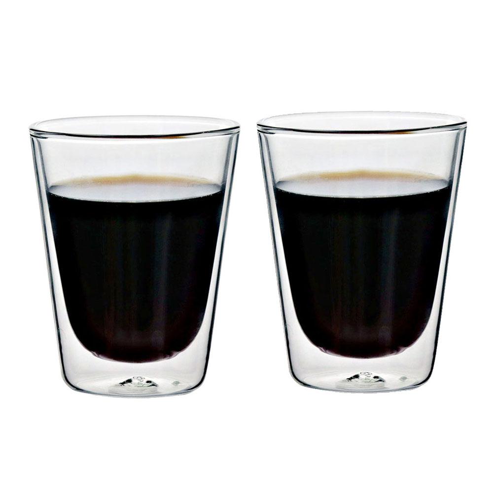 [iLoveGlass] 雙層隔冰熱玻璃咖啡杯-2入組(200ml)