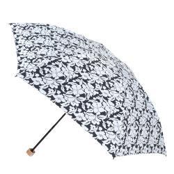 2mm 風雅扶桑花 色膠輕量四折手開傘(黑色)