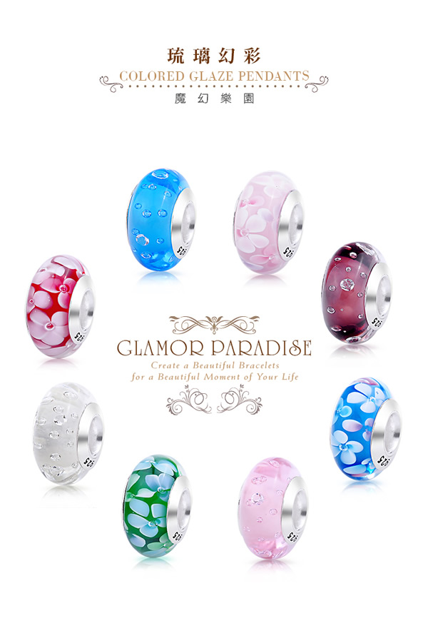 GIUMKA Beads 串珠珠飾 925純銀魔法珠飾 璃幻彩串珠珠飾泡沫系列 多款任選/單個價格 MNS04003