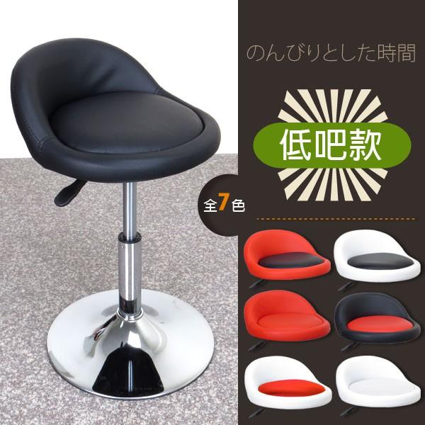 小Q超低背吧椅 低吧檯椅/美容椅/休閒椅/美髮椅/旋轉椅/工作椅7色 【029A0】