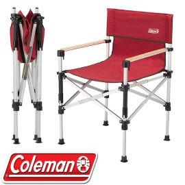 【Coleman 美國 兩段式輕巧導演椅〈紅〉】CM-31282/導演椅/折疊椅/露營椅/悠遊山水