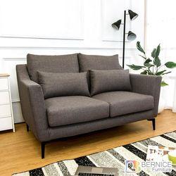 Boden-蒂羅二人座灰色防潑水亞麻布沙發(送腰枕)