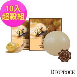 韓國deoproce 蝸牛撫紋嫩白皂100gx10入