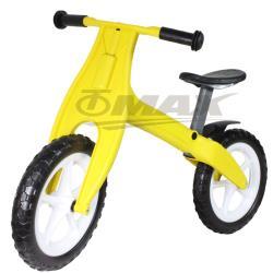 omax台製兒童平衡滑步車+車鈴1入(隨機)