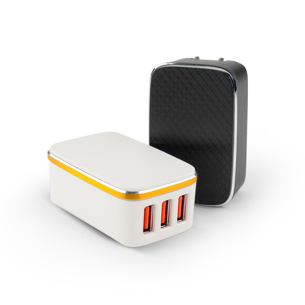 RONEVER DE008 / 3.4A USB快速充電器-3孔