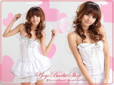 【YOYO芭比小舖】M-983 天使之戀 隨衣贈翅膀+光圈|專賣各式角色扮演服及制服訂做