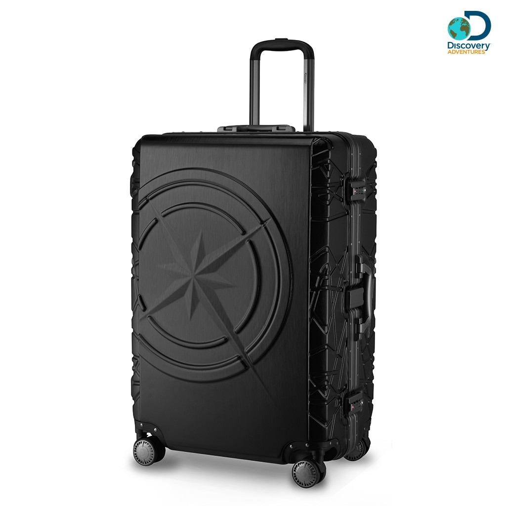 【Discovery Adventures】指南針28吋鋁框行李箱-拉絲黑