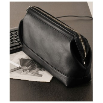 mieno [PHILIPELANGLET]フィリップラングレーセカンドバッグメンズ日本製ソフトカーフクラッチバッグ ブラック