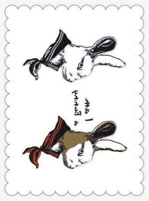 【萌古屋】水手服兔子 - 男女防水紋身貼紙原宿刺青貼紙K43
