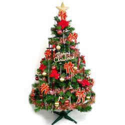 摩達客 台灣製12呎/12尺(360cm)豪華版裝飾綠聖誕樹 (+紅金色系配件組)(不含燈)