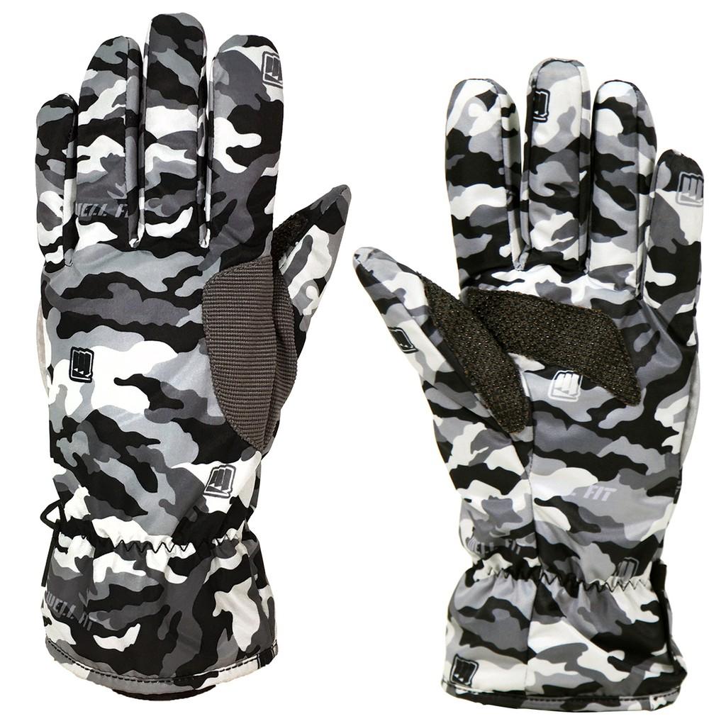 【威飛客WELL FIT】KEVLAR防水通勤手套 - 印花四色 保暖手套 防風防水 聚酯纖維 機車手套