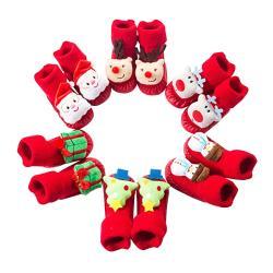 【2入】歡樂耶誕學步鞋 嬰兒軟底室內鞋 寶寶地板鞋