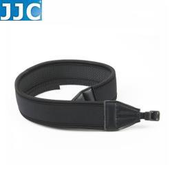 JJC單反DSLR單眼相機背帶 無反相機減壓背帶NS-N(黑色/無字樣/寬版,寬約42mm,厚近6.5mm)camera彈性防滑揹帶strap