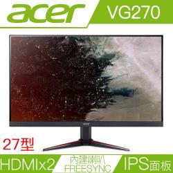 ACER宏碁 VG270 27型IPS面板FreeSync電競液晶螢幕