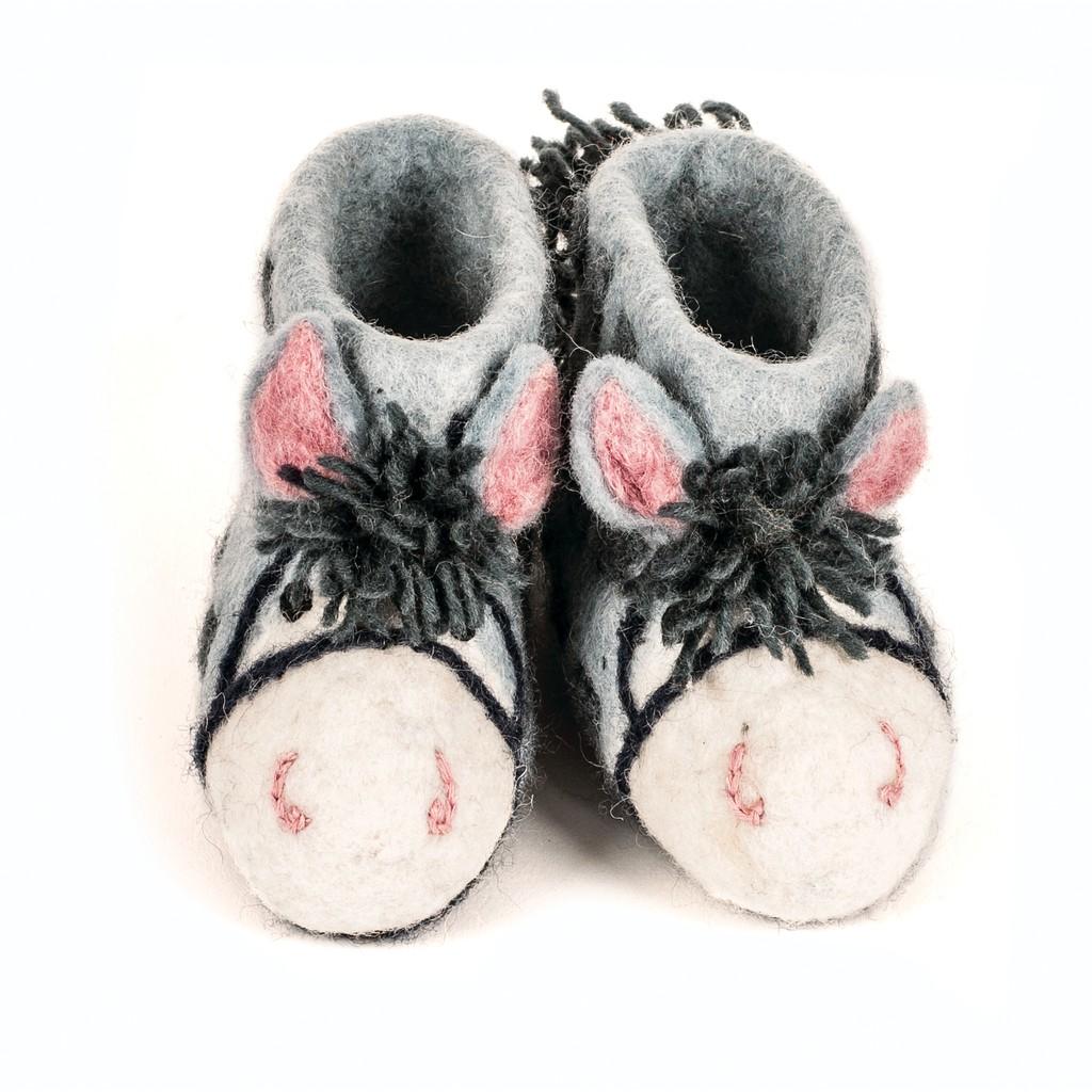 英國sew heart felt放牧小羊 羊毛氈鞋【農場小馬】嬰兒鞋 彌月禮
