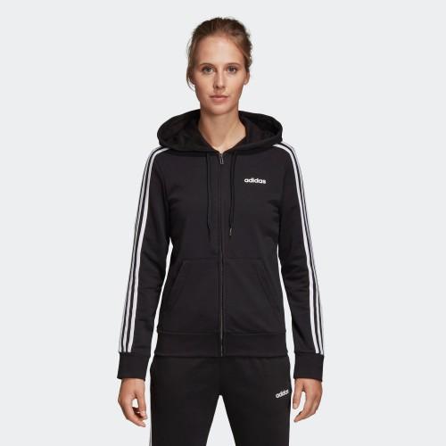 ADIDAS 愛迪達 黑白 基本款 女款 黑色 三線 連帽 薄外套 運動外套 DP2419